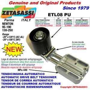 TENDEUR DE COURROIE AUTOMATIQUE LINÉAIRE ETL08 PU avec galets de tension Newton130:250-95:190