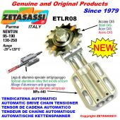 AUTOMATIC LINEAR CHAIN TENSIONER ETLR08 with idler sprocket and bearings model AC Newton130:250-95:190