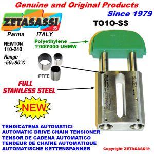 TENDICATENA AUTOMATICO LINEARE completamente in acciaio inox TO1-SS testa ovale Newton 110:240