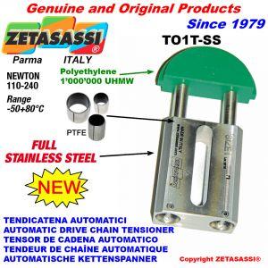 TENDICATENA AUTOMATICO LINEARE completamente in acciaio inox TO1-SS testa tonda Newton 110:240