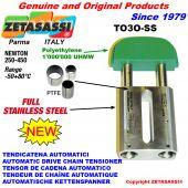 TENDICATENA AUTOMATICO LINEARE completamente in acciaio inox TO3-SS testa ovale Newton250:450
