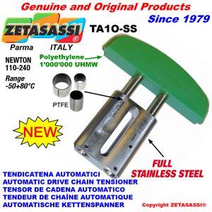 TENSOR DE CADENA AUTOMATICO LINEAL completamente de acero inoxidable TA1-SS cabeza a arco oval Newton110:240