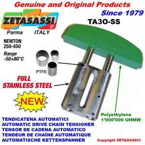TENDEUR DE CHAÎNE AUTOMATIQUE LINÉAIRE entièrement en acier inoxydable TA3-SS tête ovale Newton250:450
