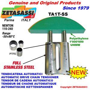 TENDEUR DE CHAÎNE AUTOMATIQUE LINÉAIRE entièrement en acier inoxydable TA1-SS tête á arc ronde Newton110:240