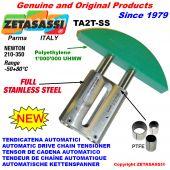 TENDICATENA AUTOMATICO LINEARE completamente in acciaio inox TA2-SS testa ad arco tondo Newton210:350