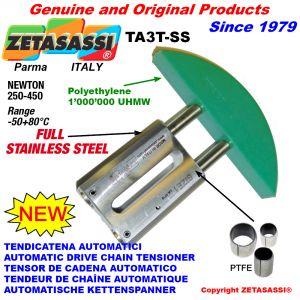 TENSOR DE CADENA AUTOMATICO LINEAL completamente de acero inoxidable TA3-SS cabeza a arco redondo Newton250:450