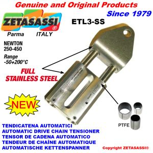 Completely in stainless steel AUTOMATIC LINEAR DRIVE TENSIONER ETL3-SS Newton250:450