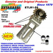Completely in stainless steel AUTOMATIC LINEAR DRIVE CHAIN TENSIONER ETLR1-SS Newton110:240