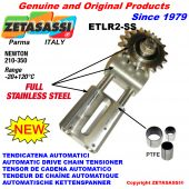 Completely in stainless steel AUTOMATIC LINEAR DRIVE CHAIN TENSIONER ETLR2-SS Newton 210:350