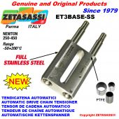 Completely in stainless steel SPRING TENSIONER ET3 BASE-SS out head Newton 250:450