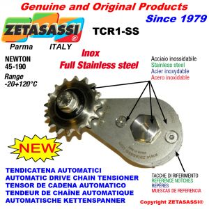 TENSIONER TCR1-SS with sprocket AC INOX Newton 45:190